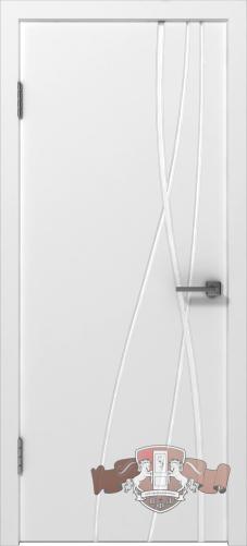 Межкомнатная дверь «Авангард Т1» 24ДГО белая эмаль