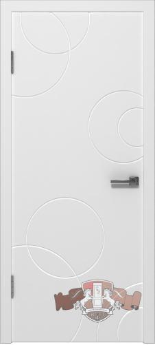 Межкомнатная дверь «Авангард К2» 25ДГО белая эмаль