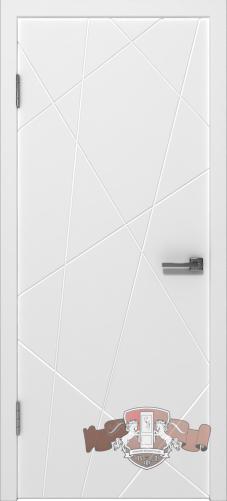 Межкомнатная дверь «Авангард П3» 26ДГО белая эмаль