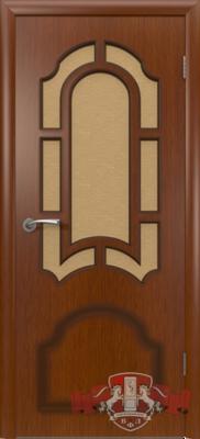 Межкомнатная дверь «Кристалл» 3ДР2 макоре