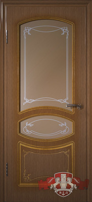 Межкомнатная дверь «Версаль» 13ДР3 орех