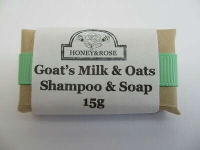 Travel Size Goats Milk and Oats Shampoo Soap (bar) 15g