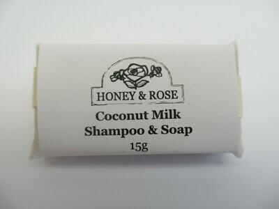 Travel Size Coconut Milk Shampoo Soap (bar) VEGAN 15g