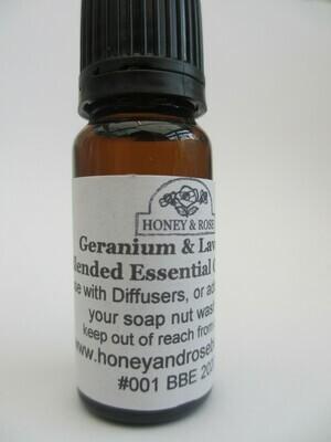 Geranium & Lavender Essential Oil 10ml- 100ml