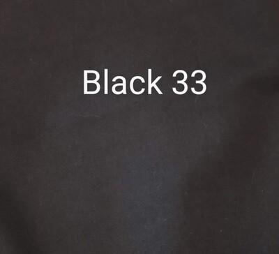 Black 033 Polycotton Triple Layered Face Masks