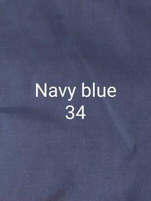 Navy Blue 34 Polycotton Triple Layered Face Masks