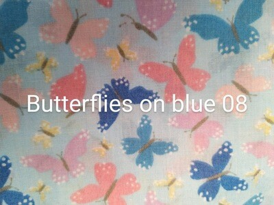 Butterflies on Pale Blue 08 Polycotton Triple Layered Face Masks
