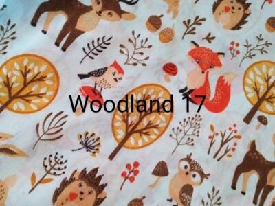 Woodland Animals 17 Polycotton Triple Layered Face Masks