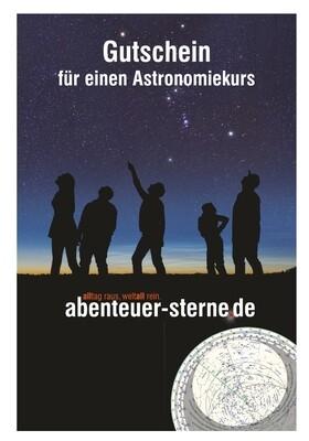 Gutschein für einen Astronomie-Einsteigerkurs (2 Tage, Chiemsee)