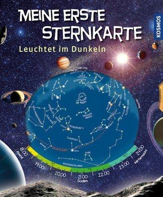 Meine erste Sternkarte, Kosmos Verlag, leuchtet im Dunkeln