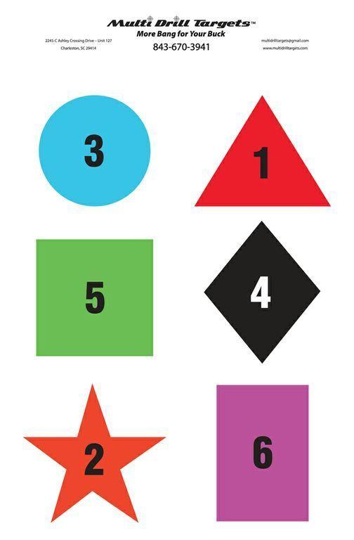 Shape Color Number - Responsive Target - 10 Count