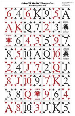 Poker Target - 10 Count (indoor wt.)