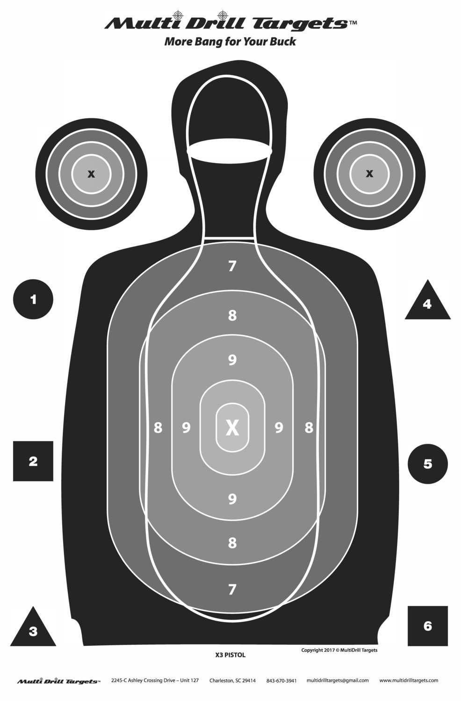 Multi Drill X-3 Indoor Pistol - Black - 25 Count