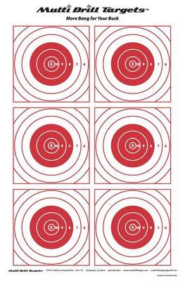 Multi Drill Bullseye Target - 10 count