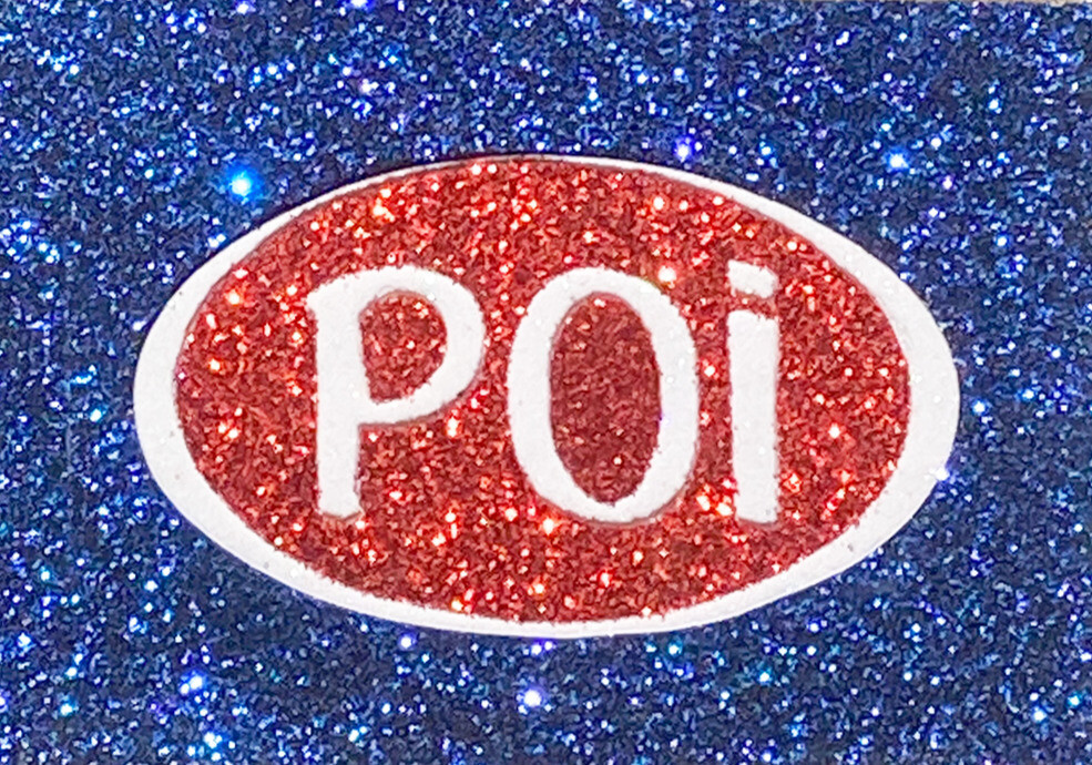 Magnet - Poi Oval Blue,Red & White