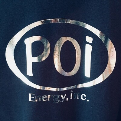 Navy T-shirt  Men's with Silver Poi Oval