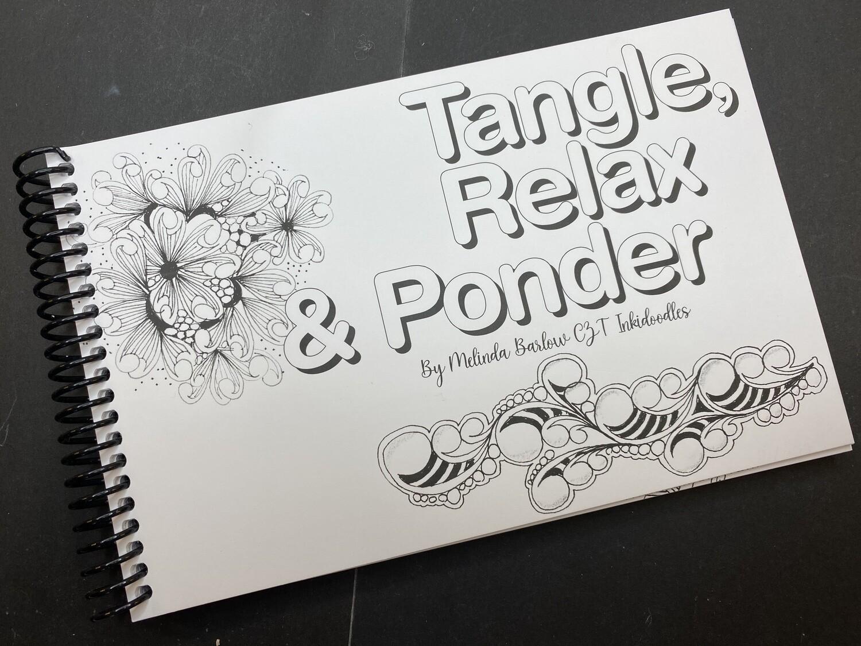 Tangle, Relax & Ponder Art Journal Book