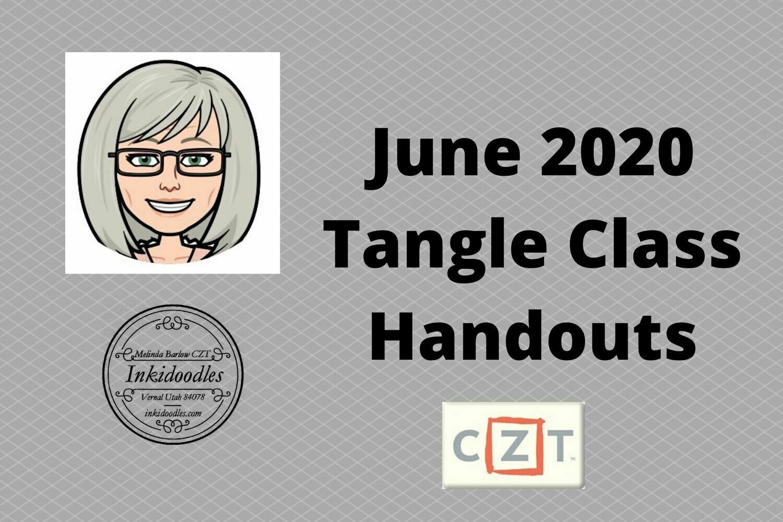 June Zentangle Class Handout