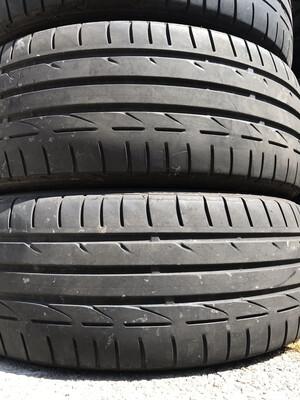 2 USED TIRES 205/45R17 Bridgestone POTENZA S001 WITH 4-5/32