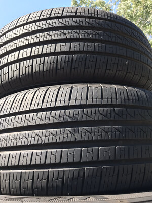 2 USED TIRES 245/40R19 Pirelli CINTURATO P7 A/S RUN FLAT WITH 8/32