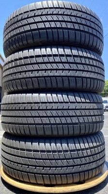 4 USED TIRES 225/50R17 Michelin PILOT SPORT A/S 3+ WITH 10/32