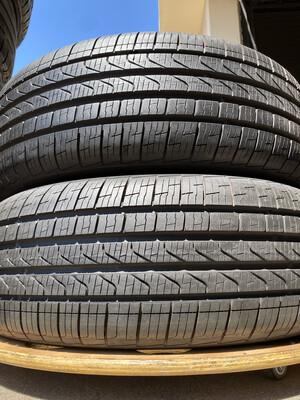 2 USED TIRES 205/55R17 Pirelli CINTURATO P7 RFT WITH 99% TREAD