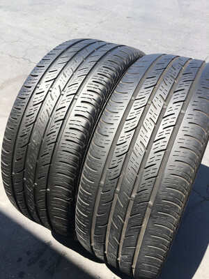 2 USED TIRES 225/45R17 Continental CONTI PRO CONTACT WITH 50% TREAD
