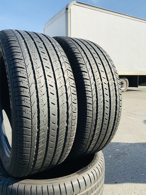 2 USED TIRES 235/50R18 Bridgestone DUELER H/L 400 RFT WITH 6/32