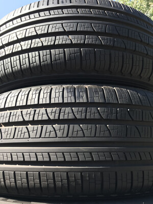 2 USED TIRES 235/60R18 Pirelli SCORPION VERDA A/S RFT WITH 80% TREAD