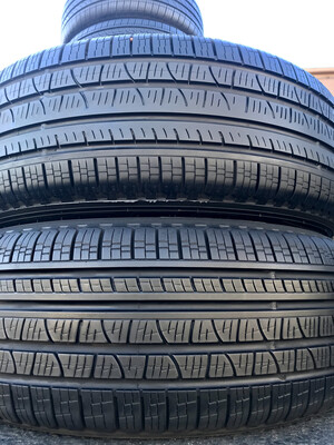 2 USED TIRES 235/60R18 Pirelli SCORPION VERDA A/S RFT WITH 60% TREAD