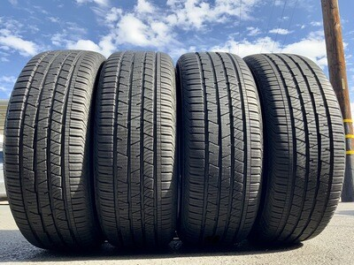 4 USED TIRES 235/60R18 Continental CROSS CONTACT LX SPORT RUN FLAT WITH 95% TREAD