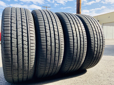 4 USED TIRES 235/5519 Continental CROSS CONTACT LX SPORT RUN FLAT WITH 90-95% TREAD