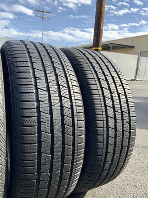 2 USED TIRES 235/60R18 Continental CROSS CONTACT LX SPORT RUN FLAT WITH 95% TREAD