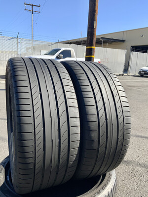 2 USED 245/35R18 Continental Sport Contact 5 WITH 65% TREAD