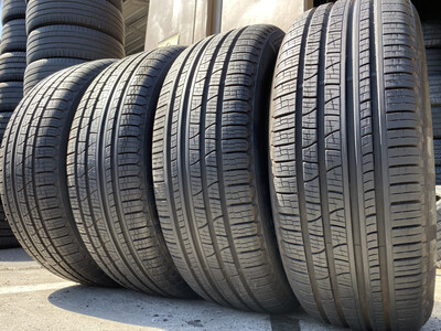 4 USED TIRES 235/55R19 Pirelli SCORPION VERDA A/S RFT WITH 90-95%