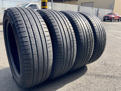 4 USED TIRES 235/55R19 Pirelli SCORPION VERDA A/S RFT WITH 50% TREAD