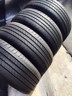 4 USED TIRES 215/55r17 Michelin PRIMACY MXV4 WITH 7/32