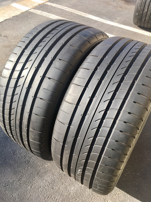2 USED TIRES 275/35R20 Goodyear EAGLE F1 ASYMMETRIC 2 RUNONFLAT WITH 9/32
