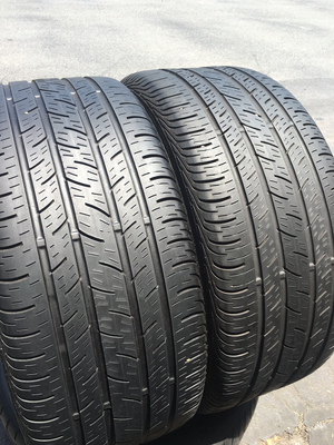 2 USED TIRES 245/40R18 Continental CONTI PRO CONTACT WITH 5/32