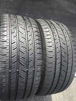2 USED 245/40R18 Continental CONTI PRO CONTACT WITH 8/32