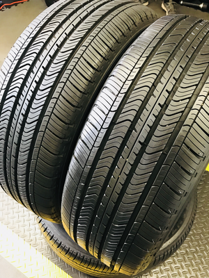 2 USED 215/55R17 Michelin PRIMACY MXV4  WITH 9/32