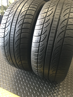 2 USED TIRES 225/45R17 Pirelli P-ZERO NERO A/S WITH 50% TREAD