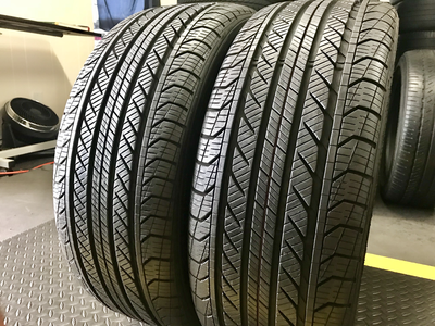 2 USED TIRES 225/45R18 Continental PRO CONTACT GX SSR WITH 10/32
