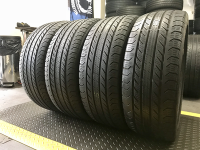 4 USED TIRES 225/45R18 Continental PRO CONTACT GX SSR 5/32