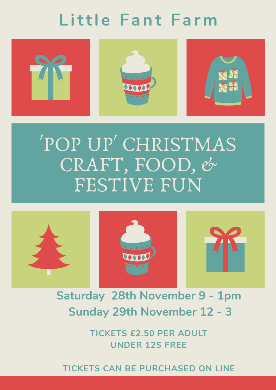 Pop Up Christmas Food & Craft Festival -  Family Entry Ticket SATURDAY 28th NOVEMBER
