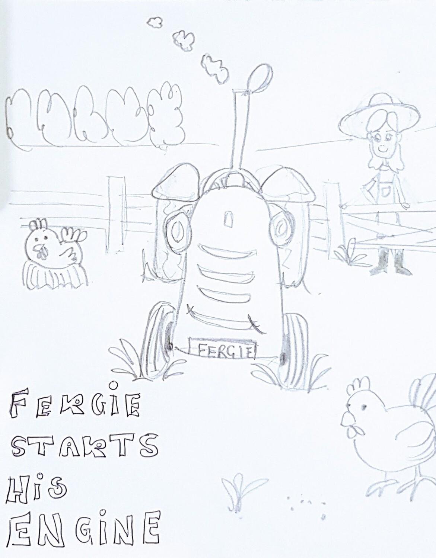 Fergie Starts His Engine