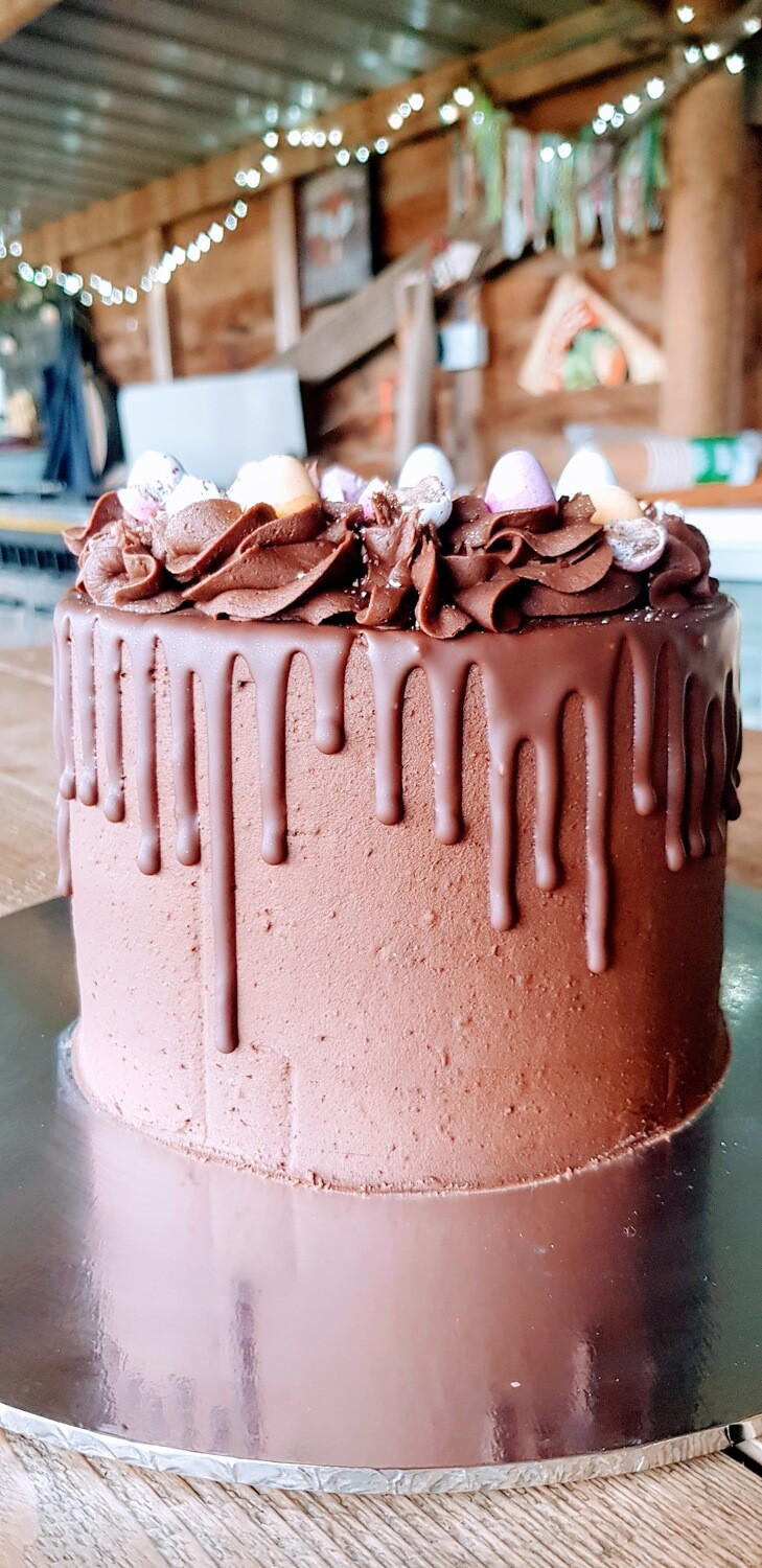 4 Layer Deluxe Chocolate Drip Easter Cake