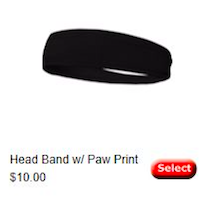 Head Band w/Paw Print