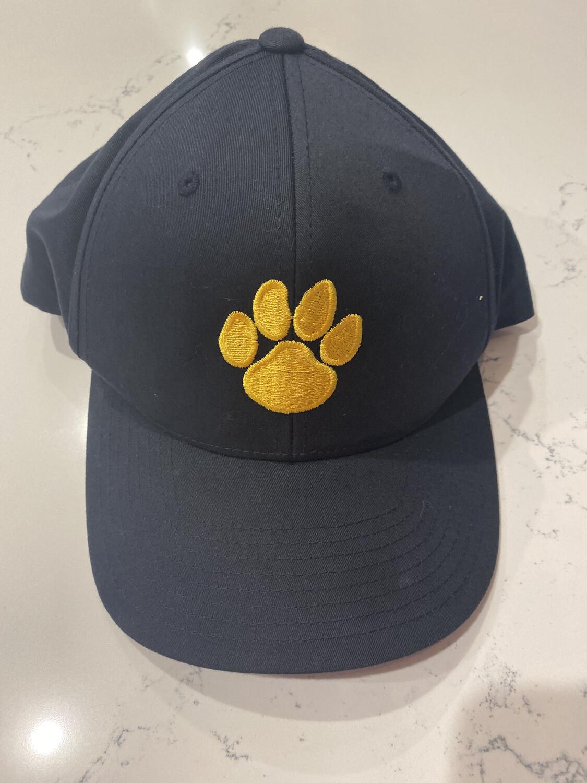 Black and Gold Paw Print Baseball Cap