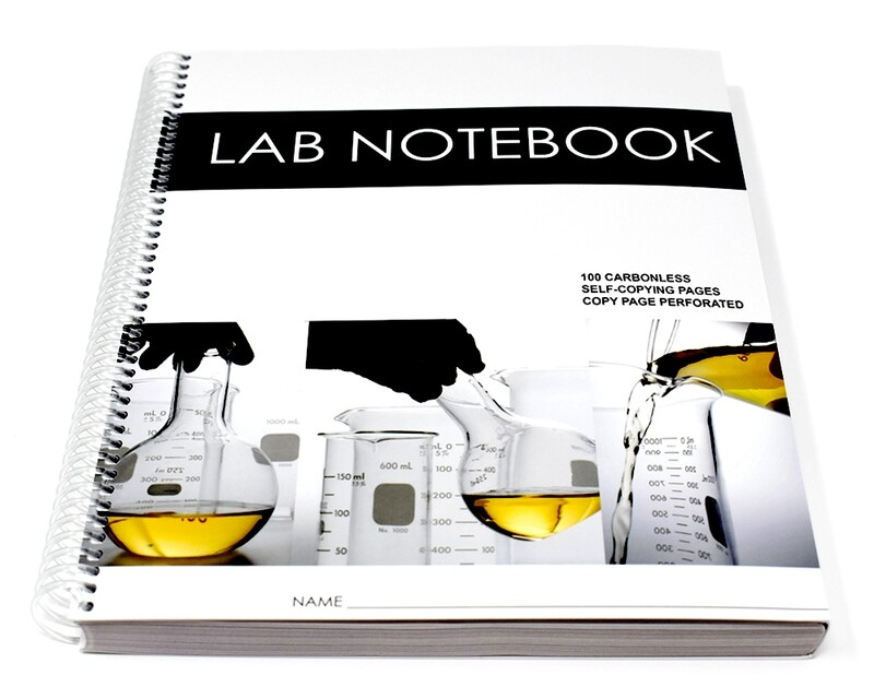 Lab Notebook 100 Pages Spiral Bound (Copy Page Perforated)
